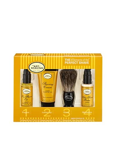 The Art of Shaving The 4 Elements of the Perfect Shave 4-Piece Kit, Lemon