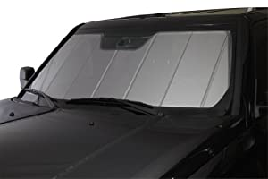 Covercraft UVS100 Heat Shield Custom Windshield Sunshade for Toyota FJ Cruiser (Laminate Material, Silver)