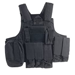 Ultimate Arms Gear Tactical Stealth Black Carrier Military Hunting Vest