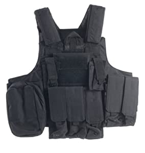 Ultimate Arms Gear Tactical Stealth Black Carrier Military Hunting Vest With MOLLE... by Ultimate Arms Gear