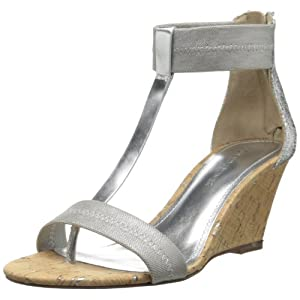 Donald J Pliner Women's Palo Wedge Sandal,Silver Metallic Mesh,9 M US