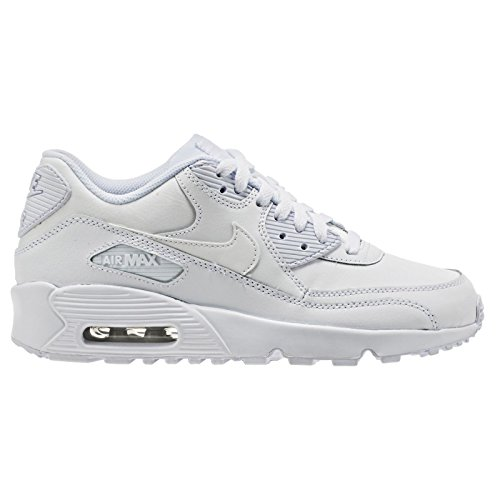 Nike Air Max 90 Letter Big Kids Style Shoes : 833412, White/White, 6.5 (Mens Nike Air Max 90 compare prices)