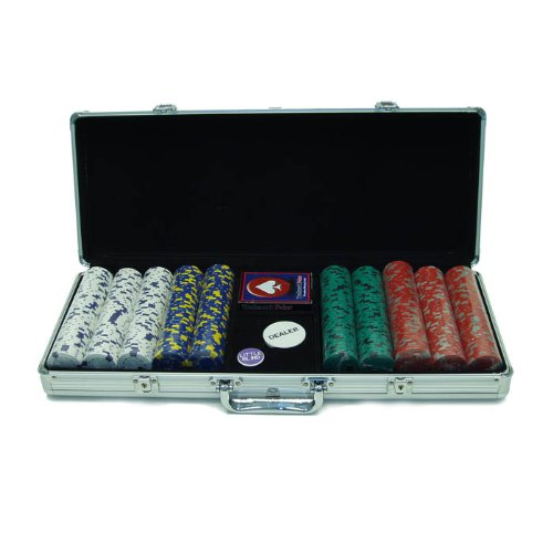 Trademark Poker 500 13-Gram Pro Clay Casino Chips with Aluminum Case