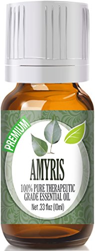 Amyris 100% Pure, Best Therapeutic Grade Essential Oil - 10ml