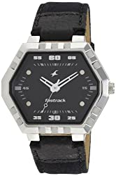 Fastrack Analog Black Dial Mens Watch - 3067SL02