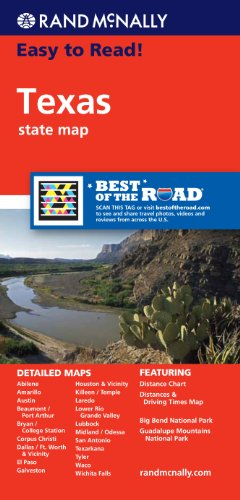 Rand McNally Easy To Read: Texas State Map
