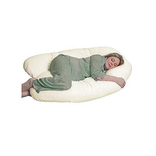 Leachco Organic Smart Back 'N Belly Original Contoured Body Pillow