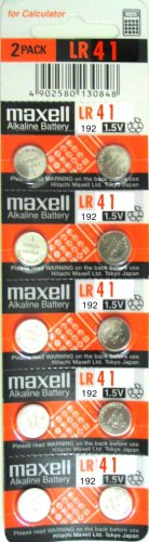 10 pack MAXELL AG3 LR41 192 Button Mobile Batteries.