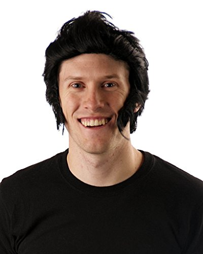 My Costume Wigs Men's New Discount Elvis Wig (Black) One Size fits all