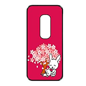 Vibhar printed case back cover for Motorola Moto X (2nd Gen) LyingBunny