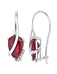 Kiara Jewellery Sterling-Silver Clip-On Earings For Women ( White )