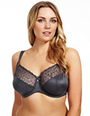 Maximum Support Geometric Embroidered Underwired GG-J Bra