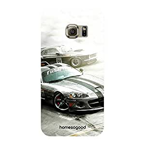 HomeSoGood Multicolor Rally Drifting Automobile 3D Mobile Case For Samsung S6 Edge ( Back Cover)