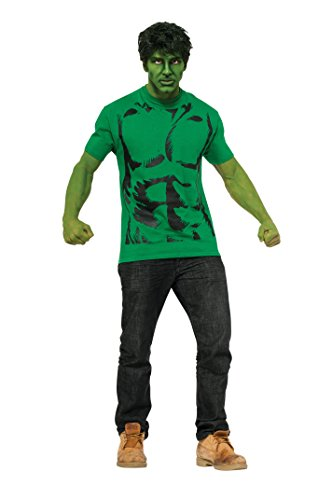Rubie's Costume Men's Marvel Universe Hulk Adult Costume T-Shirt and Eye Mask