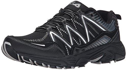 Fila Men's Headway 6 Running Shoe, Black/Black/Metallic Silver, 12 M US (Fila Shoes compare prices)