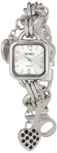XOXO Women's XO7026 Silver Dial Silver-tone Charm