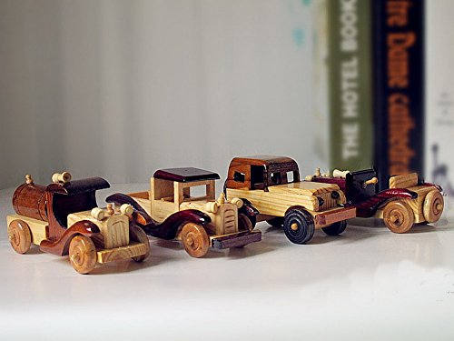 Vintage Handmade Wooden car model Home Furnishing decoration--A
