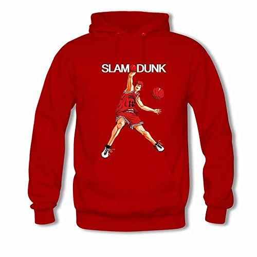 SLAM DUNK -Handsome basketball master Sakuragi Hanamichi Hoodie for Women-XXL