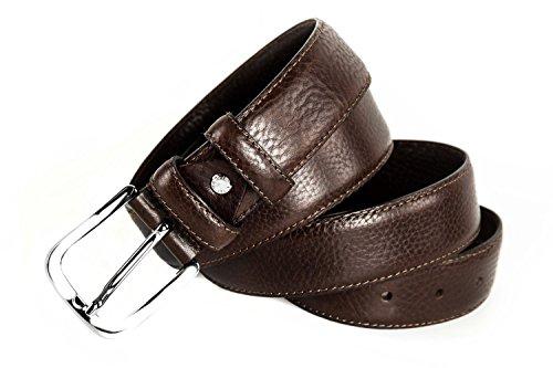 Cintura uomo RONCATO moro cinta in pelle con impunture lunga 115 cm R3586