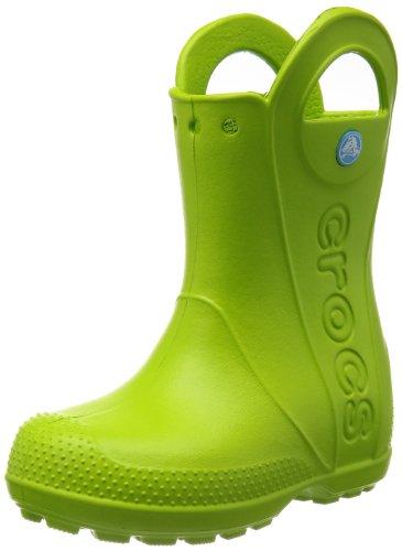 Crocs, Rain Boot K, Stivali, Unisex - bambino, Verde (Volt Green 395), 23-24
