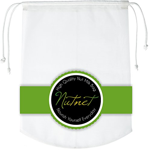 1 Nut Milk Bag Ultrasonic Welded Seamless Premium Extra Fine Nylon Mesh Strainer Food Grade Gallon Reusable Filter Use As Cheesecloth Great