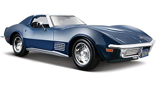 NEW 1:24 DISPLAY MAISTO SPECIAL EDITION - BLUE 1970 CHEVROLET CORVETTE STINGRAY Diecast Model Car By Maisto (Chevrolet Corvette Model compare prices)