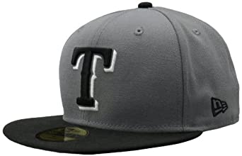 MLB Texas Rangers Storm Gray Black 2 Tone Basic 59Fifty by New Era