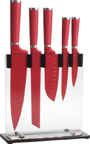 Red Knife Block Set