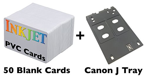 Inkjet PVC ID Card Starter Kit - Includes 50 Cards - Compatible with Canon J Tray Printers (50 Cards) (Pvc Card Tray compare prices)