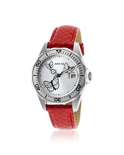 Invicta Women's INVICTA-19739 Pro Diver Red/Silver-Tone Calf-Skin Watch