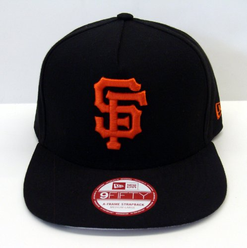 Buy San Francisco Giants New Era Under Scape Strapback Snapback Style Cap Hat Black