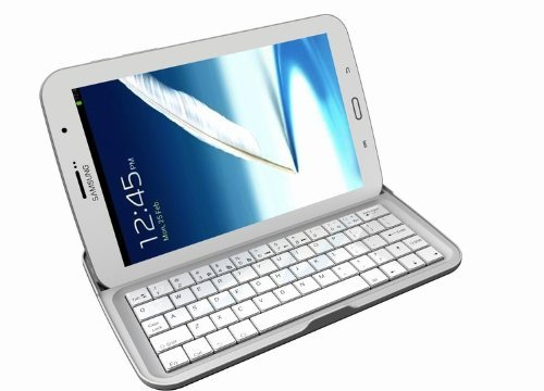 "EVERSTAR® Samsung Galaxy Note 8.0 Keyboard Dock Smart Case Accessory Cover 3-in-1 Aluminum Bluetooth 3.0 Wireless Keyboard for N5100 / N5110 / N5113 4G LTE Wifi 8"" Android Tablet"