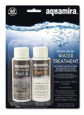 Aquamira Water Treatment, 2 Oz, Part A and B, Chlorine Dioxide