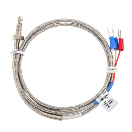 Vakind 1M High Temperature Cable Pt100 Rtd With 6Mm Thread Thermometer Sensor
