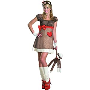 Ms. Sock Monkey Deluxe Costume - Small - Dress Size 4-6