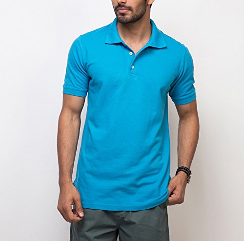 Yepme Men's Blue Cotton Polo Tees - YPMPOLO0237_S