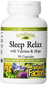 Natural Factors Sleep Relax Capsules, 90-Count