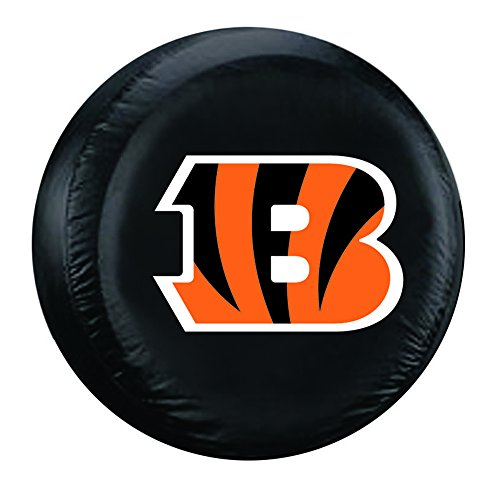 NFL Cincinnati Bengals Tire Cover, Black, Large (Tire Cover Large compare prices)