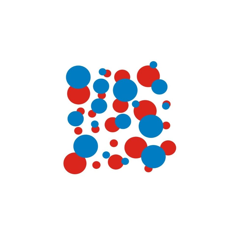 set of 106 Blue and Red polka dots Vinyl wall lettering stickers quotes and sayings home art decor kit peel stick mural graphic appliques decal