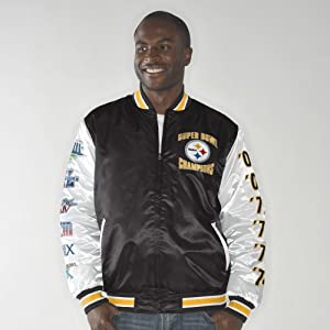 Pittsburgh Steelers NFL G-III Up the Gut Super Bowl Commemorative Satin Jacket by G-III Sports