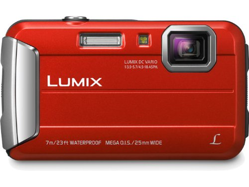 Panasonic Lumix DMC-TS25 16.1 MP Tough Digital Camera with 8x Intelligent Zoom (Red)