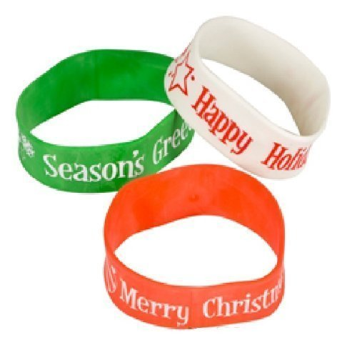 Holiday Christmas Band Bracelets (1 DZ) - 1