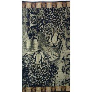 Luxury Oversized Beach Towels, Wild Tiger , 100% Egyptian Cotton