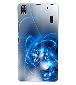 ColourCraft Abstract Image Design Back Case Cover for LENOVO A7000 PLUS