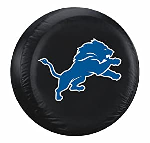 Detroit Lions Black Tire Cover - Standard Size by Generic