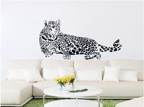 Home Decor Decals Poster House Wall Stickers Quotes Removable Vinyl Large Wall Sticker For Kids Rooms Animal Leopard W-28