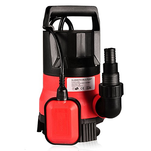 Homdox Water Pump 1/2 HP 2115GPH Automatic Submersible Dirty Clean Water Pump Red (Utility Electric Cord compare prices)