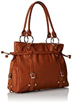 Claire Chase Catalina Ladies Leather Handbag, Computer Bag in Saddle