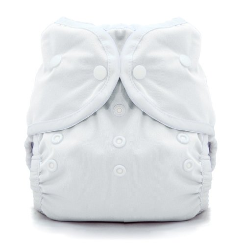 Xhan Adjustable Reusable Washable One Size Baby Cloth Diapers Nappy 1 Diaper + 2 Inserts White front-599100