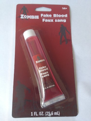 Fake Blood 1 Ounce Tube - For Halloween Zombies Vampires - 1